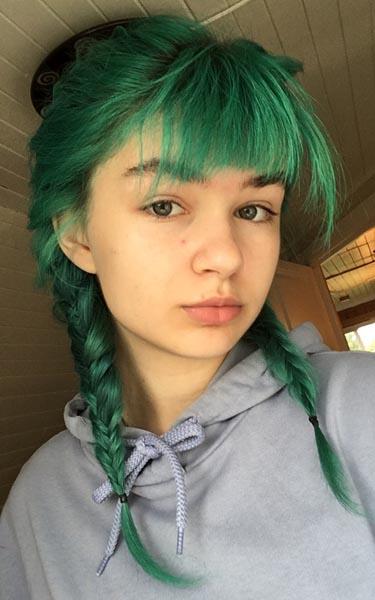 grønn hårfarge