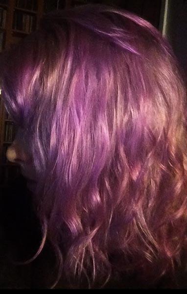 lys lilla hårfarge