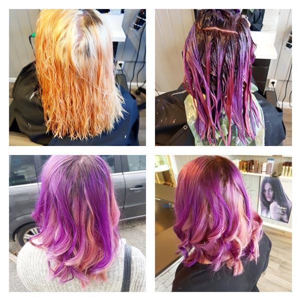 farge håret lilla