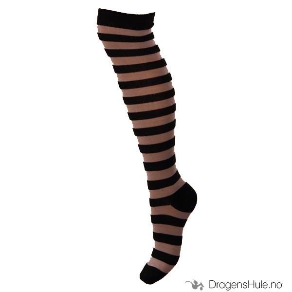 ecbd81376 Strømper: Striper, svart-grå - Dragens Hule -Butikken med det ...