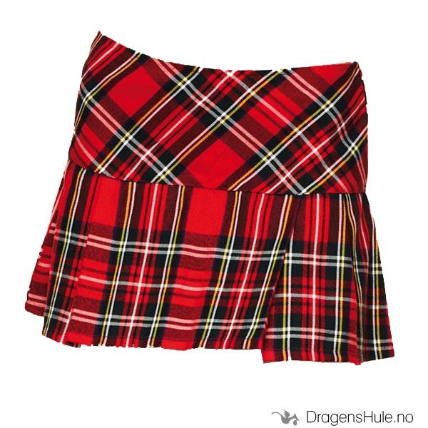 5e31198a Skjørt: Scottish Mini Tartan rød - Dragens Hule -Butikken med det ...